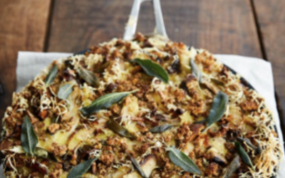 What was the cheese in Jamie Olivers ​vegan lasagne?