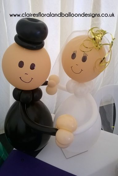 Wedding Balloons Bride and Groom