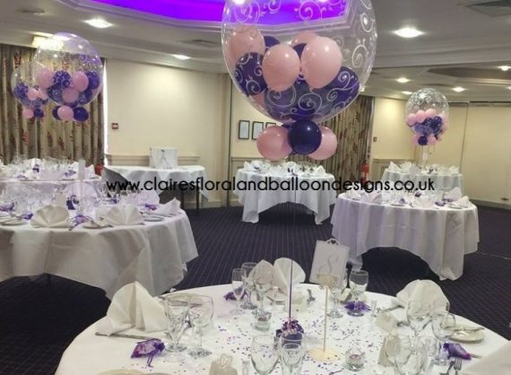 Wedding Balloons Table Settings