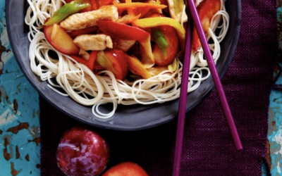 South African Plum & Pork Stir-Fry
